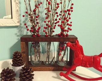 Red Oak 3 Jar Vase