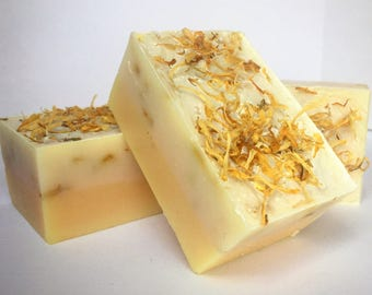 Lemon Calendula Handmade Soap