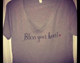 Bless your Heart V-neck
