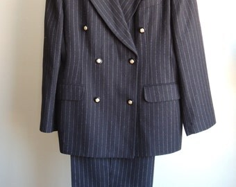 Norton McNaughton Pin Stripe Pant Suit Size 14
