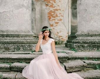 Wedding dress - Powder cloud - unique wedding gown. Bridal gown. Bohemian wedding dress. Bridesmaid dress. Fairy wedding dress