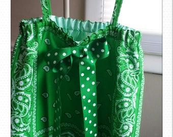 Country Girl Green Bandana Top