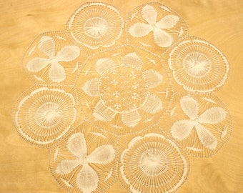 Ñanduti Lace, White Placemat or Doily, Indigenous art from Paraguay