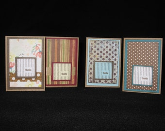 Set of 4 Mini Thank You Cards