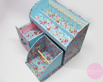 sewing box cartonnage spool storage ribbon organaize