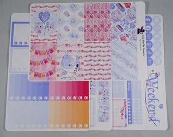 Weekly Sticker, Available in Erin Condren and Happy planner vertical layouts, I Love Cats and Dogs