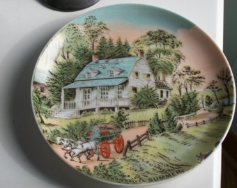 "Vintage Currier & Ives ""Summer"" Plate"