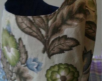 Handmade barkcloth vintage bag