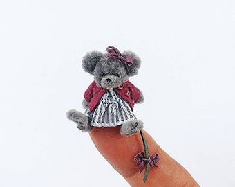 Miniature Stuffed Mouse