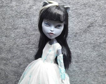 ooak dress outfit  for monster high dolls monsterhigh(the blue one)
