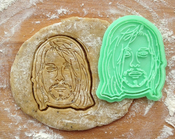 Kurt Cobain cookie cutter. Nirvana cookie cutter. Kurt Cobain cookies