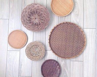 Vintage wall baskets