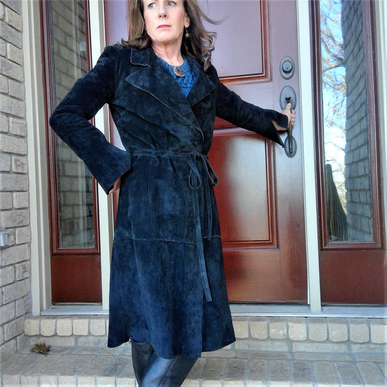 Bisou: CLEARANCE Vintage BISOU BISOU Michele Bohbot Suede Leather