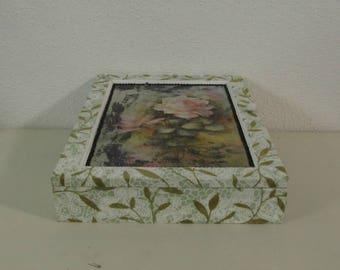 Holz-Box Gartenrose