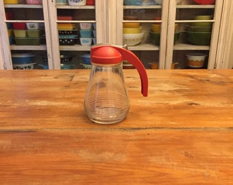 Vintage Glass Syrup Jar