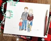 Custom Watercolor Portrait, Family Portrait, Custom Art, Watercolor and Ink, Family Memories Portrait