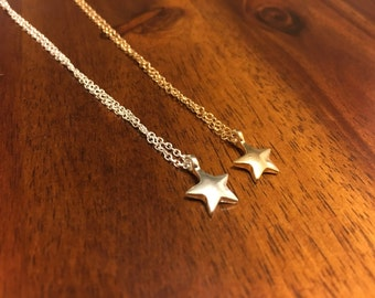Star Necklace - Star Charm - Star Pendant - Star Jewelry - Gold Star Necklace - Gold Star Charm - Silver Star Necklace - Silver Star Charm