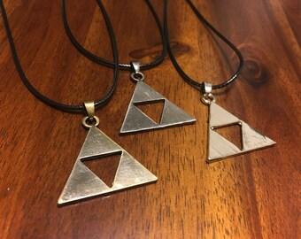 Triforce Necklace - Legend of Zelda Necklace - Zelda Necklace - Triforce Pendant - Triforce Charm - Triforce Jewelry - Zelda Pendant - Zelda
