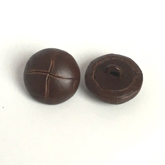 Vintage Leather Buttons 88