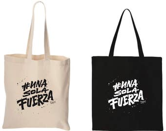 Tote bag, Re-usable bag, canvas bag, ecofriendly bag, #UnaSolaFuerza Peru bag