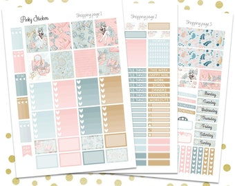 Shopping Weekly Kit for Erin Condren   Printable   Includes Blackout Files for Easy Cutlines