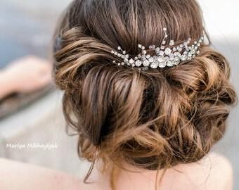 Crystal Hair Comb, Wedding Hairpiece, Bridal Crystal Comb, Rhinestone Hair Comb, Bridal Hair Piece, Wedding Bridal Comb