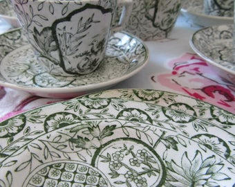 Victorian coffee tea set William Morris style