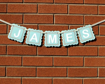 Baby Boy Nursery Decor - Personalized Name Banner - Personalized Gift - Personalized Baby Gift - Kids Room Decor - Custom Name Banner