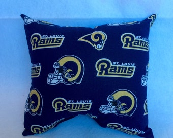 READY to SHIP St Louis Rams Pillows- Couch Pillows- Man Cave- Gamer Room- RAMS- Football