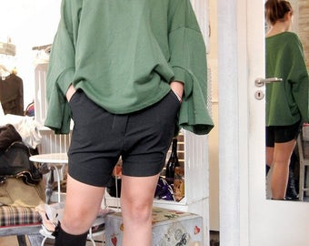 Loose Casual Drop Crotch Shorts / Trendy Stylish Shorts / Fashionable Sexy Shorts /