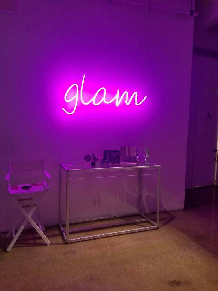 neon led sign custom signs room bedroom miami personalized rooms decor lights pink beach deco