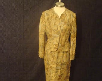Mary Ann Restivo 1980's Vintage 2 Piece Womens Suit Size 6