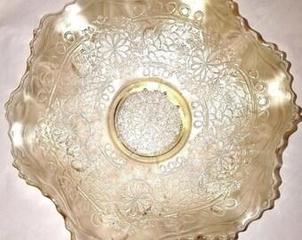 """Carnival Glass - RARE Fenton """"Clambroth"""" Bowl"""
