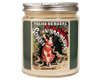 Snake Charmer Soy Candle, Scented Candle, Circus Candle, Container Candle, Soy Candle, Vintage Candle, Vintage Circus Candle, Circus Decor
