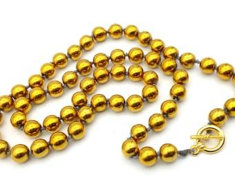 Golden Hematite beads necklace
