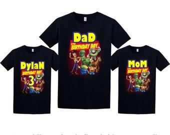 Toy Story Birthday Shirt, Toy Story Custom Shirt, Personalized Toy Story Shirt, Toy Story family shirts, Birthday t-shirt for girls and boys