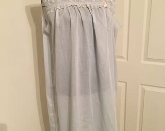 Vintage blue nightgown 1950s