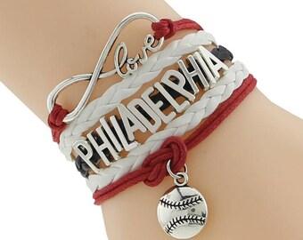 Philadelphia Phillies Love Friendship Charm Bracelet
