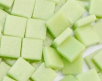 12mm Mosaic Craft Tiles - Light Pistachio Green Matte - 50g