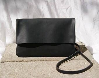 Rabat Black Leather Handbag