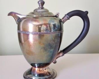 Antique WM A Rogers Silverplate Tea Coffee Pot
