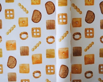 Snack Mix Watercolor Wrapping Paper