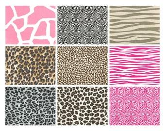 Premier Prints Animal Print Fabric Remnants/Scrap Packs - Free Shipping