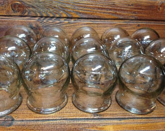 Medical Glass Cupping / Vacuum Chinese Massage/ Medicine Jars / Glass Vintage Jars / Medical tool made in USSR / Soviet tools