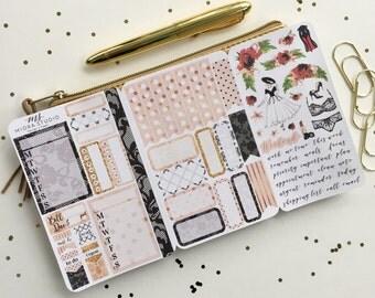 Grace Kelly Traveler's Notebook Pocket Size Traveler's Notebook Planner Sticker Insert, Field Notes Insert, TN Insert