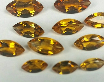 6x3, 8x4 & 10x5 marquise Natural Citrine