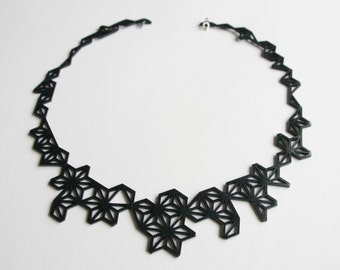 """""""Leather lace"""" necklace"""