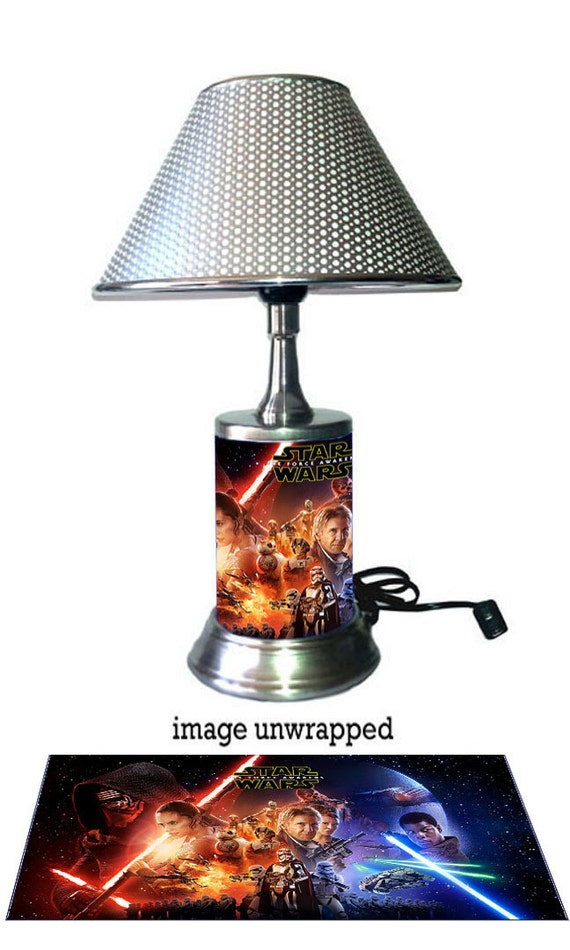 Star Wars Lamp with chrome shade, The Force Awakens