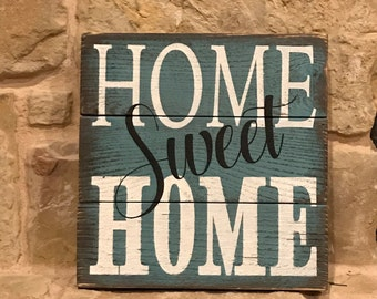 Home Sweet Home rustic wood sign, farmhouse decor, rustic home decor, small wood sign, Home sweet Home,