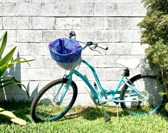 Bike Basket Liner Tote Bag - Reversible - Water Resistant Pocket - Custom Made